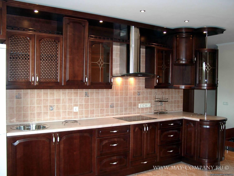 Дизайн кухни из массива фото